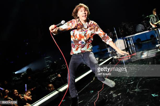 Thomas Mars of Phoenix performs at the KROQ Almost Acoustic Christmas 2017 Night 1 on December 10 2017 at the Forum in Los Angeles CA