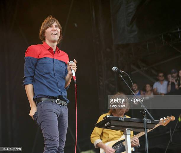 Thomas Mars of Phoenix performs in concert during the ACL Music Festival at Zilker Park on October 7, 2018 in Austin, Texas.