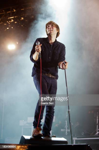 Thomas Mars of Phoenix performs on stage on Day 3 of Austin City Limits Festival at Zilker Park on October 6 2013 in Austin Texas