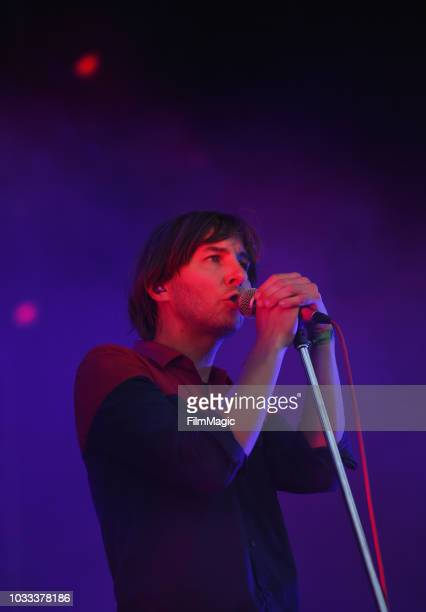 Thomas Mars of Phoenix performs on the Scissor Stage during day 1 of Grandoozy on September 14 2018 in Denver Colorado