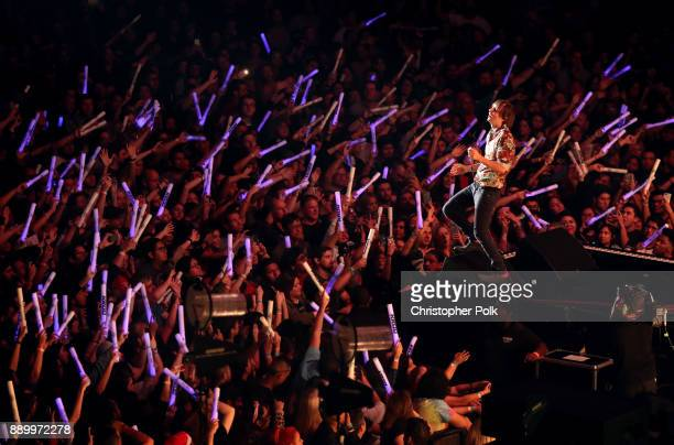 Thomas Mars of Phoenix performs onstage during KROQ Almost Acoustic Christmas 2017 at The Forum on December 10 2017 in Inglewood California