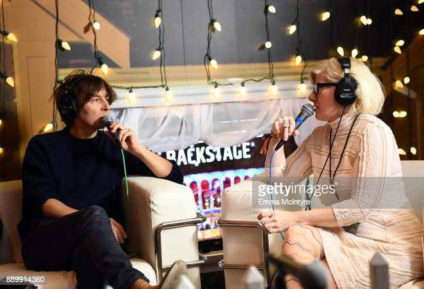 Thomas Mars of Phoenix speaks during an interview wtih Kat Corbett at KROQ Almost Acoustic Christmas 2017 at The Forum on December 10, 2017 in...