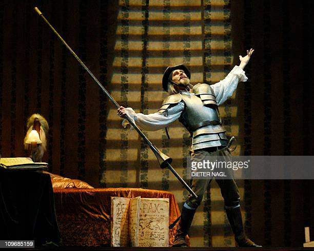 STORY Thomas Mayerhofer perform during the general rehearsal for the ballett Don Quixote at the state opera on February 25 2011 in Vienna Rudolf...