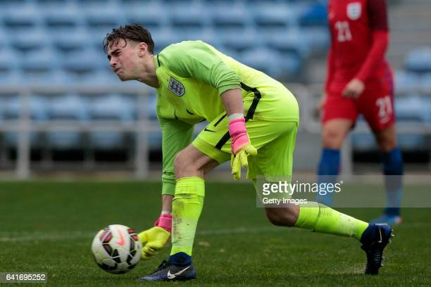 Thomas McGill of England U17 during the U17 Algarve Cup Tournament Match between England U17 and Germany U17 on February 12 2017 in Albufeira Portugal