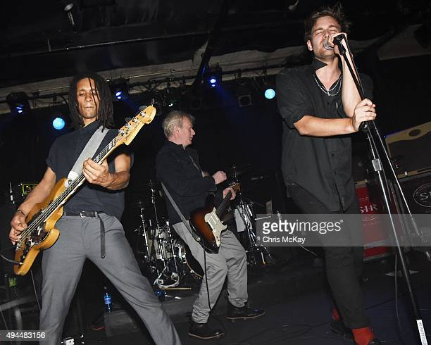 Thomas McNeice Andy Gill and John 'Gaoler' Sterry of Gang Of Four perform at 40 Watt Club on October 26 2015 in Athens Georgia