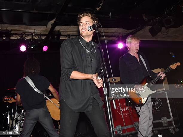 Thomas McNeice John 'Gaoler' Sterry and Andy Gill of Gang Of Four perform at 40 Watt Club on October 26 2015 in Athens Georgia