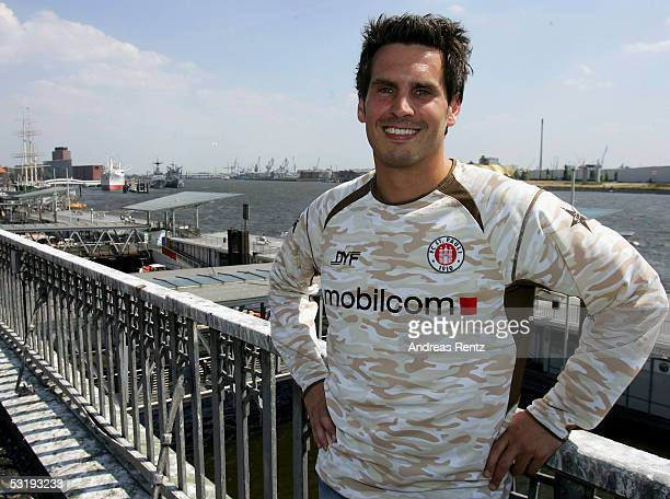 Thomas Meggle poses for a photograph during the Team Presentation of FC St. Pauli on July 4, 2005 in Hamburg, Germany