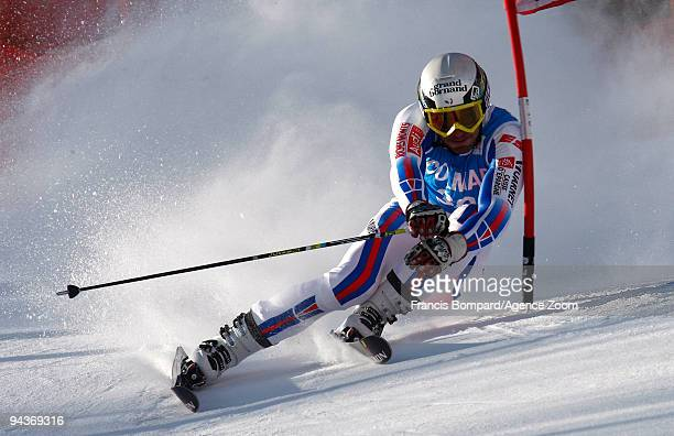 Thomas MermillodBlondin of France in action during the Audi FIS Alpine Ski World Cup Men's Giant Slalom on December 13 2009 in Val d'Isere France