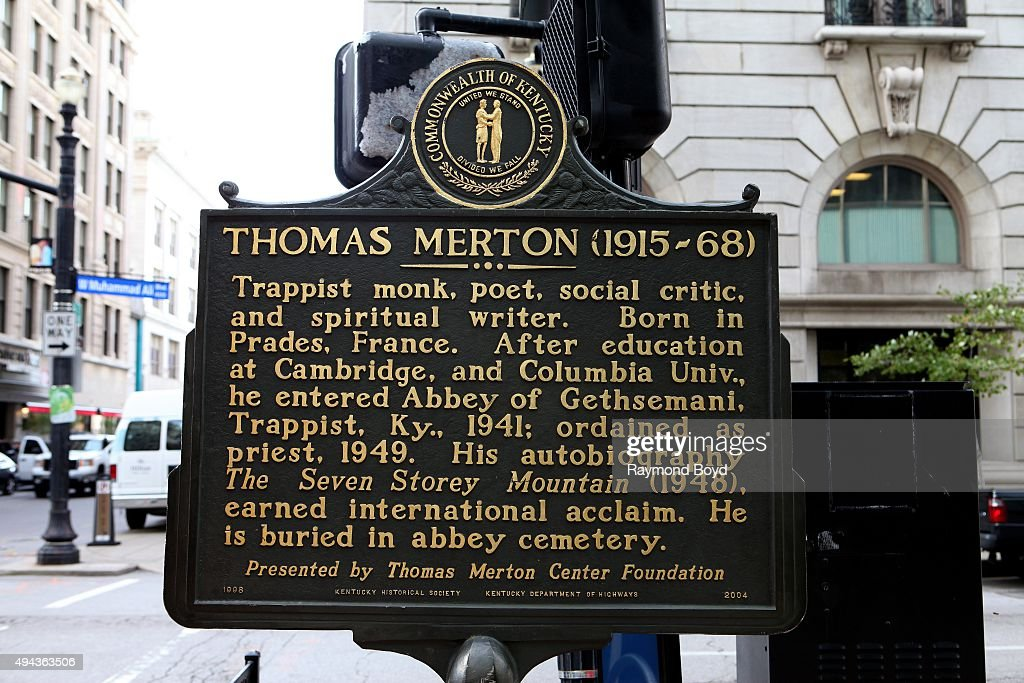Thomas Merton Historical Marker In Downtown Louisville On October 4 News Photo Getty Images
