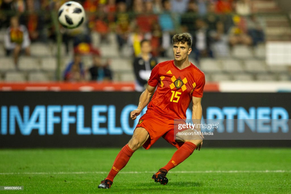 Thomas MEUNIER during a friendly game between Belgium and Portugal , as part of preparations for the 2018 FIFA World Cup in Russia, on June 2, 2018 in Brussels, Belgium. Photo by Frank Abbeloos - Isosport