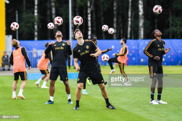 Thomas Meunier of Belgium during the Training Session of Belgium on July 9 2018 in Moscow Russia