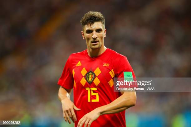 Thomas Meunier of Belgium in action during the 2018 FIFA World Cup Russia Round of 16 match between Belgium and Japan at Rostov Arena on July 2 2018...