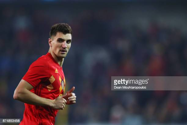 Thomas Meunier of Belgium in action during the international friendly match between Belgium and Japan held at Jan Breydel Stadium on November 14 2017...