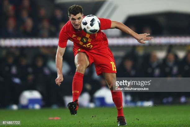 Thomas Meunier of Belgium in action during the international friendly match between Belgium and Japan held at Jan Breydel Stadium on November 14 2017...