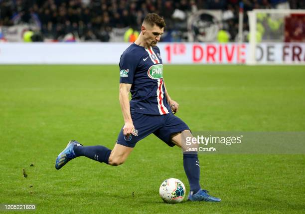 Thomas Meunier of PSG during the French Cup semifinal match between Olympique Lyonnais and Paris Saint-Germain at Groupama Stadium on March 4, 2020...