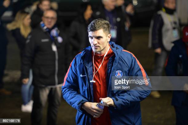 Thomas Meunier of PSG during the french League Cup match Round of 16 between Strasbourg and Paris Saint Germain on December 13 2017 in Strasbourg...