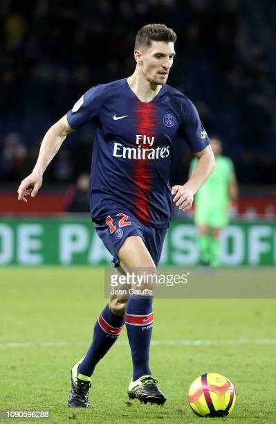 Thomas Meunier of PSG during the french Ligue 1 match between Paris SaintGermain and Stade Rennais FC at Parc des Princes on January 27 2019 in Paris...