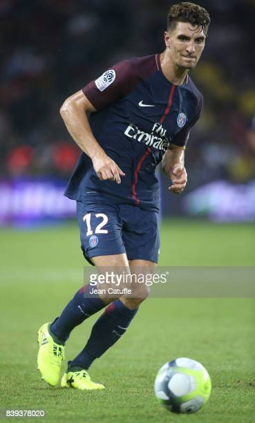 Thomas Meunier of PSG during the French Ligue 1 match between Paris Saint Germain and AS SaintEtienne at Parc des Princes on August 25 2017 in Paris...