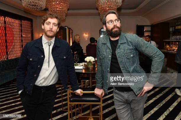 """Thomas Middleditch and Martin Starr attend the premiere of Apple TV+'s """"Little America"""" afterparty on January 23, 2020 in West Hollywood, California."""