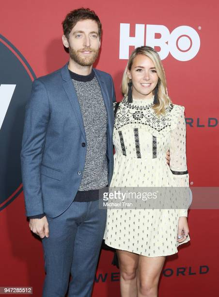Thomas Middleditch and Mollie Gates arrive at the Los Angeles premiere of HBO's Westworld season 2 held at The Cinerama Dome on April 16 2018 in Los...