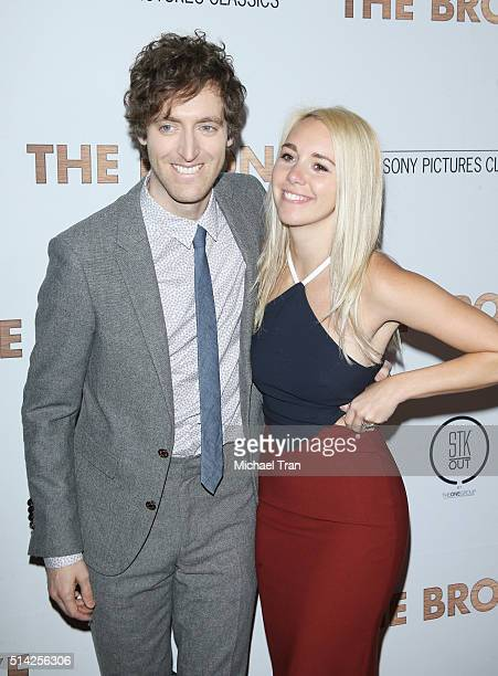 Thomas Middleditch and Mollie Gates arrive at the premiere of Sony Pictures Classics' The Bronze held at SilverScreen Theater at the Pacific Design...