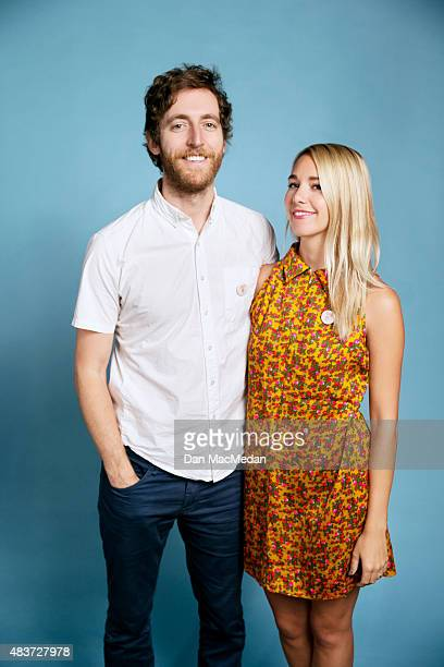 Thomas Middleditch and Mollie Gates attend the 'Finders Keepers' screening during the Sundance NEXT FEST at The Theatre at Ace Hotel on August 8 2015...