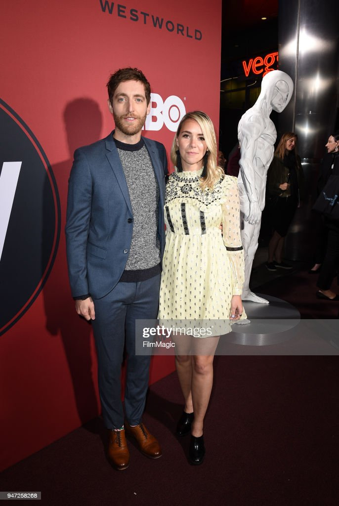 Thomas Middleditch and Mollie Gates attend the Los Angeles Season 2 premiere of the HBO Drama Series WESTWORLD at The Cinerama Dome on April 16, 2018 in Los Angeles, California.