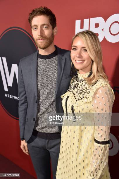 Thomas Middleditch and Mollie Gates attend the Los Angeles Season 2 premiere of the HBO Drama Series WESTWORLD at The Cinerama Dome on April 16 2018...