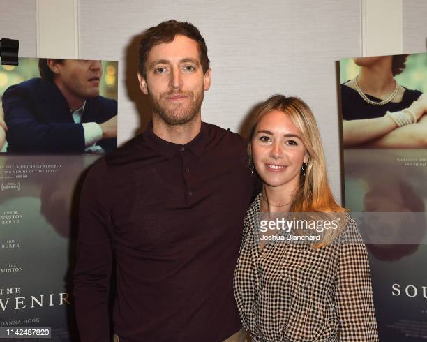Thomas Middleditch and Mollie Gates attend the Los Angeles Special Screening of A24's The Souvenir on May 9 2019 in West Hollywood California