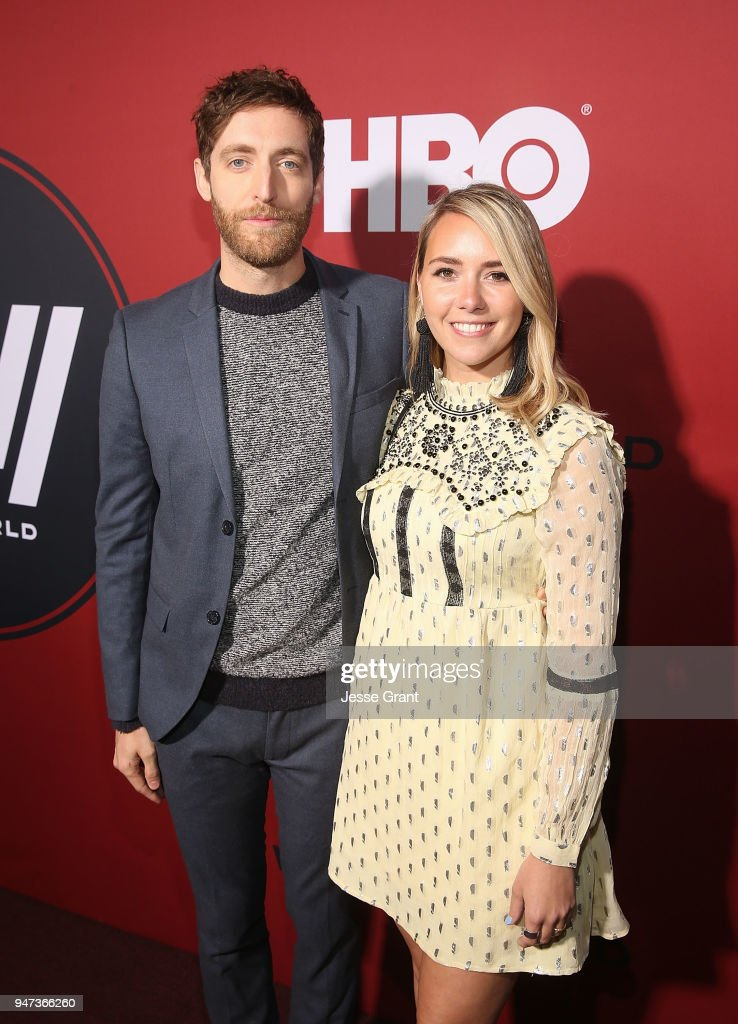 Thomas Middleditch and Mollie Gates attend the Premiere of HBO's 'Westworld' Season 2 at The Cinerama Dome on April 16, 2018 in Los Angeles, California.