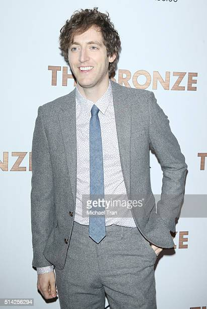Thomas Middleditch arrives at the premiere of Sony Pictures Classics' The Bronze held at SilverScreen Theater at the Pacific Design Center on March 7...
