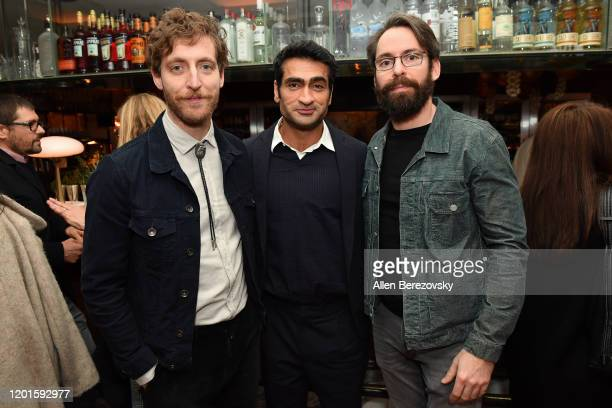 """Thomas Middleditch, Kumail Nanjiani and Martin Starr attend the premiere of Apple TV+'s """"Little America"""" afterparty on January 23, 2020 in West..."""