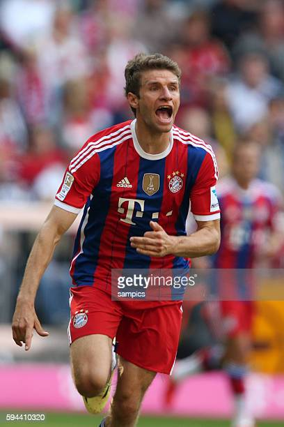 Thomas Müller Mueller FC Bayern München deutsche Fussball Meisterschaft des FC Bayern München 1 Bundesliga Fussball FC Bayern München VfB Stuttgart...