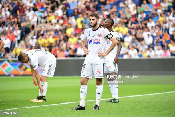 Thomas Monconduit of Amiens during the Ligue 1 match between Paris Saint Germain and Amiens SC at Parc des Princes on August 5 2017 in Paris France