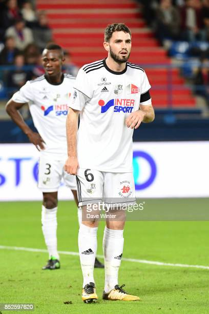 Thomas Monconduit of Amiens during the Ligue 1 match between SM Caen and Amiens SC at Stade Michel D'Ornano on September 23 2017 in Caen France