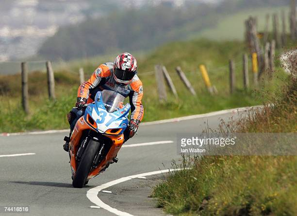 Thomas Montano in action through Guthries during the PokerStars TT Supersport Junior race at the Isle of Man TT Races on June 6 2007 in Isle of Man