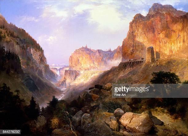 Thomas Moran Golden Gate Yellowstone National Park oil on canvas 921 × 1276 cm 362 × 502 in Buffalo Bill Historical Center Cody Wyoming