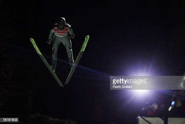 Thomas Morgenstern of Austria during the third round of the FIS Ski Jumping World Cup event at the 56th Four Hills Ski Jumping Tournament on January...