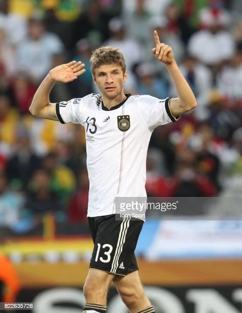 Thomas Mueller Allemagne vs Angleterre 8eme de Finale coupe du monde 2010 Bloemfontein Afrique du Sud
