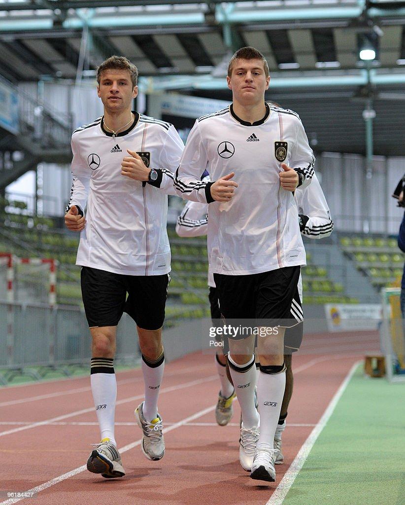 Germany - Press Conference & Fitness Test : News Photo