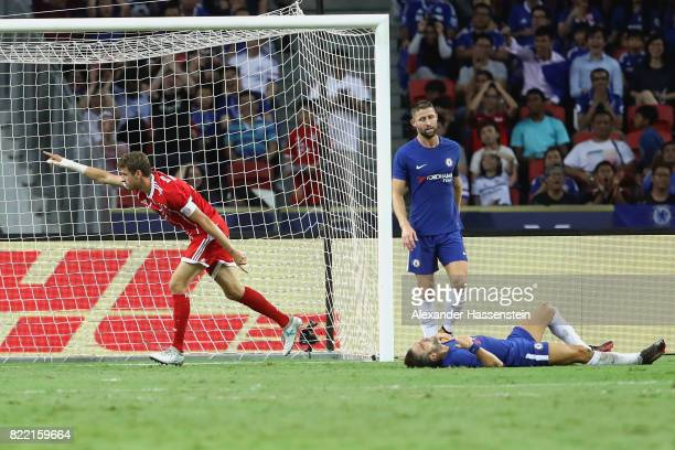 Thomas Mueller of Bayern Muenchen celebrates scoring the 2nd team goal during the International Champions Cup 2017 match between Bayern Muenchen and...