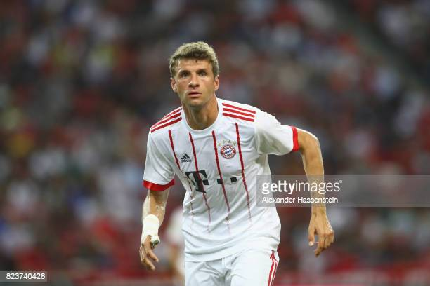 Thomas Mueller of Bayern Muenchen looks on during the International Champions Cup 2017 match between Bayern Muenchen and Inter Milan at National...