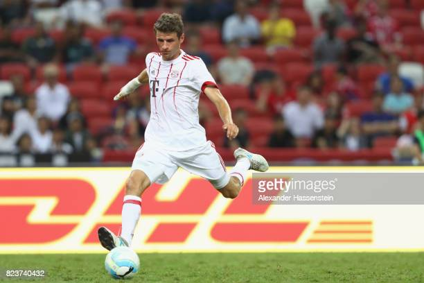 Thomas Mueller of Bayern Muenchen runs with the ball during the International Champions Cup 2017 match between Bayern Muenchen and Inter Milan at...