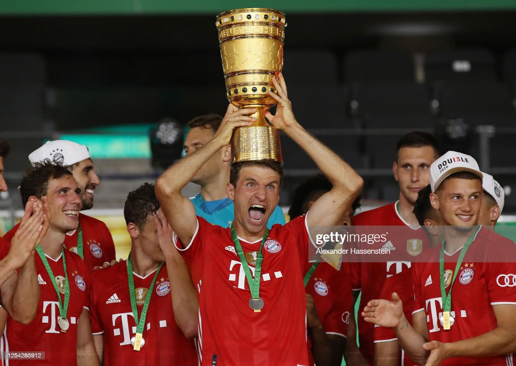 Bayer 04 Leverkusen v FC Bayern Muenchen - DFB Cup Final : News Photo