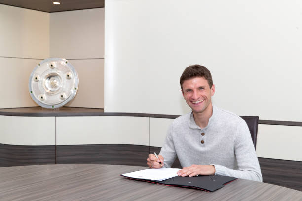 DEU: FC Bayern Muenchen Extends Contract With Thomas Mueller Until 2023