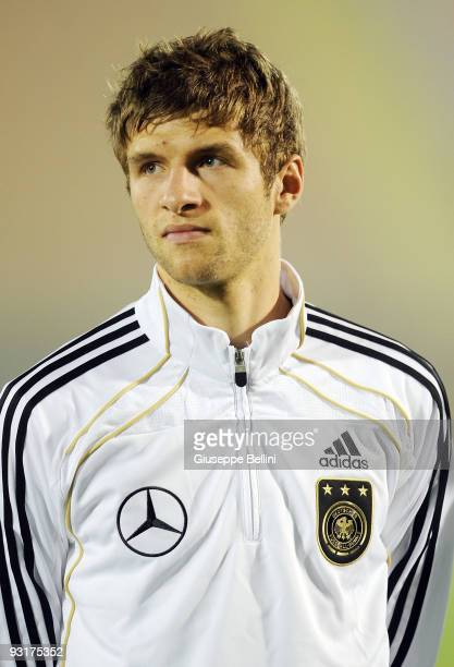 Thomas Mueller of Germany before the UEFA Under 21 Championship match between San Marino and Germany at Olimpico stadium on November 17 2009 in...