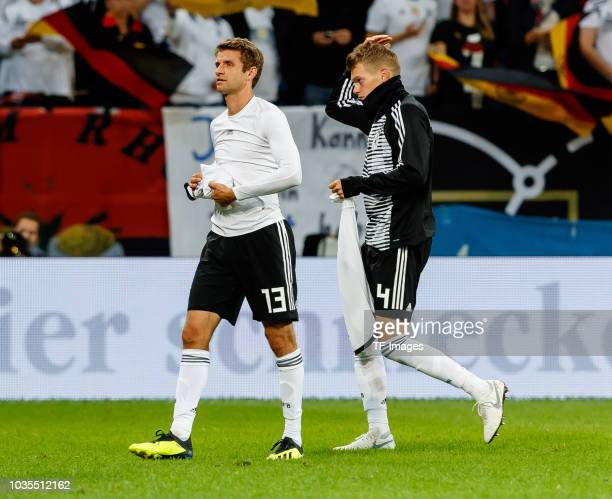 Thomas Mueller of Germany Matthias Ginter of Germany looks on during the International Friendly match between Germany and Peru on September 9 2018 in...