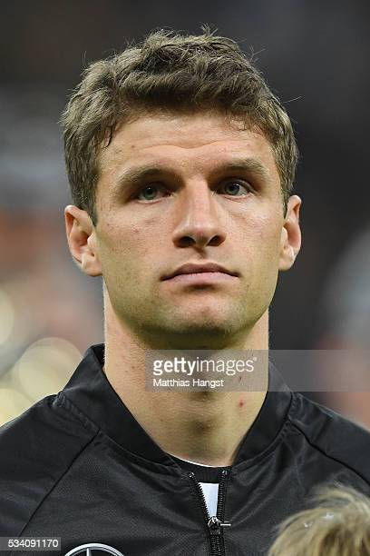 Thomas Mueller of Germany poses prior to the International Friendly match between Germany and Italy at Allianz Arena on March 29 2016 in Munich...