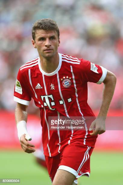 Thomas Mueller of Muenchen looks on during the International Champions Cup Shenzen 2017 match between Bayern Muenchen and AC Milan at on July 22 2017...