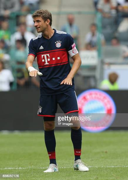 Thomas Mueller of Muenchen looks on during the Telekom Cup 2017 match between Bayern Muenchen and 1899 Hoffenheim at on July 15 2017 in...